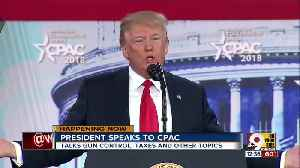 President speaks to CPAC