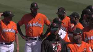 News video: Marlins host first 2018 spring training game, honor MSD victims