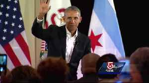 News video: President Obama speaks in Boston, but no one is saying what he said