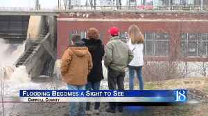 News video: Flooding becomes a sight to see