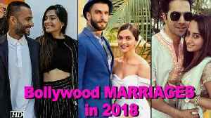 News video: Bollywood couples getting MARRIED in 2018