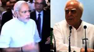 News video: Kapil Sibal Questions The Accountability Of Finance Minister
