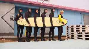 News video: Aussie Winter Olympians ditch the skis - go surfing in the cold