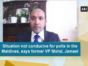 News video: Situation not conducive for polls in the Maldives, says former VP Mohd. Jameel