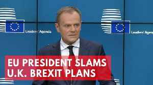News video: EU President Donald Tusk slams U.K.'s Brexit plans as pure illusion