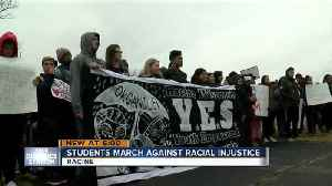 News video: Horlick High School students march against racial injustice