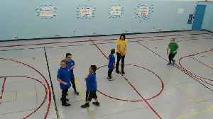 News video: Students Playing Soccer at the School Gym