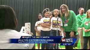 News video: Walton students compete in Multiplication Challenge