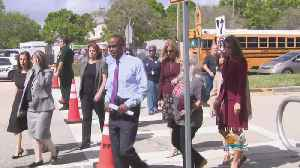 News video: 'There Was Hugging. There Were Tears.': Teachers Return To Marjory Stoneman Douglas High