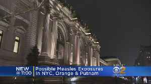 News video: Possible Measles Exposure In NY
