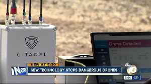News video: Dropping Dangerous Drones Out Of The Sky