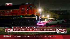 News video: Minor injuries reported in train vs. vehicle collision in north Tulsa