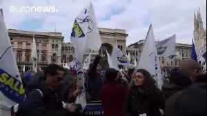 News video: Anti-fascist protesters rally against racism in Italy