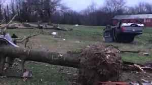News video: 2 Homes Damaged By Severe Weather In Tennessee, Kentucky