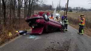 News video: No injuries reported after rollover crash Friday morning