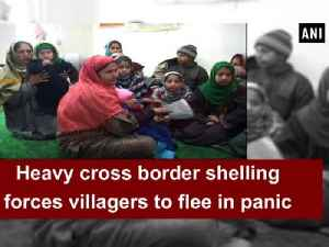 News video: Heavy cross border shelling forces villagers to flee in panic