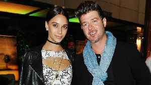 News video: Robin Thicke and Girlfriend April Love Geary Welcome First Child Together -- Find Out the Sex!
