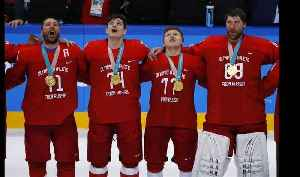 News video: Russian ice hockey gold medallists sing national anthem