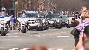 News video: Crowds Line the Streets to Pay Respects Watching Billy Graham Motorcade