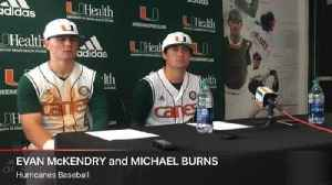 News video: UM's Evan McKendry and Michael Burns talk about Miami's 2-0 win over Florida