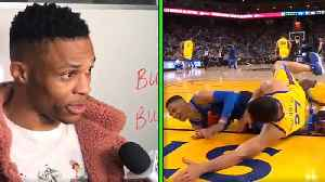 News video: Russell Westbrook Calls Zaza Pachulia a DIRTY Player for Intentionally Falling on His Leg