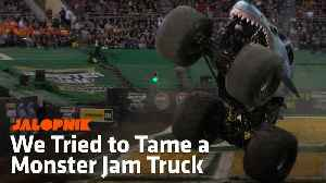 News video: We Tried To Tame A Monster Jam Truck