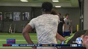 News video: Two former in state college football rivals working together to chase their NFL dreams