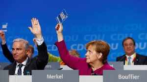 News video: Germany: Merkel's CDU party approves grand coalition deal with SPD