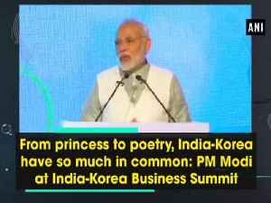 News video: From princess to poetry, India-Korea have so much in common: PM Modi at India-Korea Business Summit