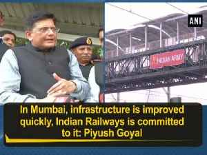 News video: In Mumbai, infrastructure is improved quickly, Indian Railways is committed to it: Piyush Goyal