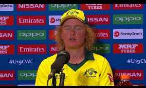News video: Cricket World TV - Australia Captain on QF Win LIVE From Queenstown | ICC u19 World Cup 2018