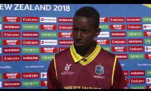 News video: Cricket World TV - West Indies v Canada Highlights | SF Plate ICC u19 World Cup 2018