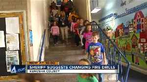 News video: Kenosha Sheriff suggests schools change fire drills to protect students