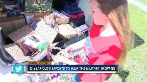News video: Fundraiser for 12-year-old's Pinellas nonprofit to send care packages to the military overseas