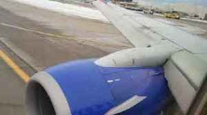 News video: Flames Seen by Passenger on Southwest Airlines Plane