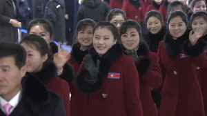 News video: North Korean athletes and cheerleaders leave South Korea after Winter Olympics ends
