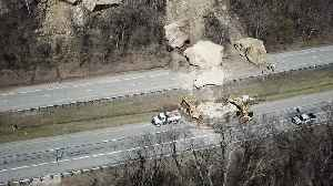 News video: Drone Footage of Giant Rock Slide Aftermath