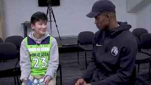 News video: NBA All-Star Jimmy Butler Still Grants Fan's Wish Right After Injuring His Knee