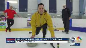 News video: Paxton Gives Curling A Try