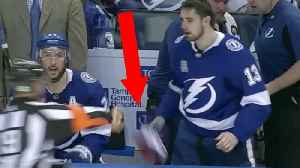 News video: Pissed Off Ref Throws Glove at Tampa Bay Lightning Player