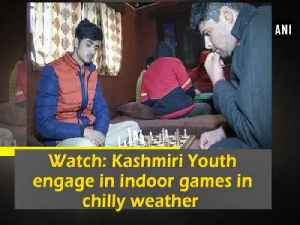 News video: Watch: Kashmiri Youth engage in indoor games in chilly weather