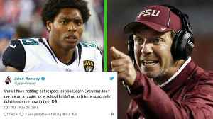 News video: Jalen Ramsey BLASTS Jimbo Fisher for Using Him to Recruit Athletes to Texas A&M
