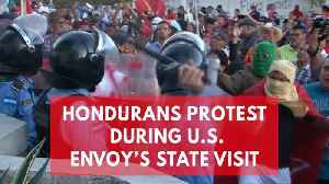 News video: Tear gas flies in Honduras as protests erupt during Nikki Haley's visit