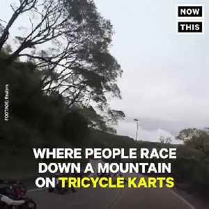 News video: This Red Bull Extreme Downhill Tricycle Race Is Bananas