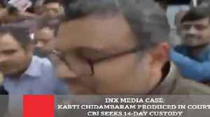 News video: INX Media Case: Karti Chidambaram Produced In Court, CBI Seeks 14-Day Custody