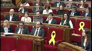 News video: Catalan parliament picks Puigdemont as symbolic leader