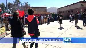 News video: Sights & Sounds Of SF Giants Vs. Anaheim Angels Spring Training Game