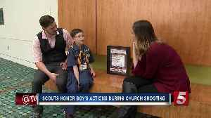 News video: Boy Scouts Honor 8-Year-Old For Bravery During Antioch Church Shooting