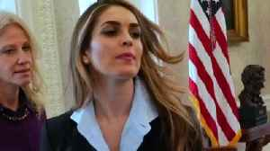 News video: Trump White House Morale Drops After Hicks Exit