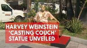 News video: Harvey Weinstein 'casting couch' statue unveiled ahead of Oscars